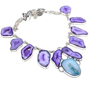 Avelons Designs Jewelry - Stunning purple lace drutzy agate sterling